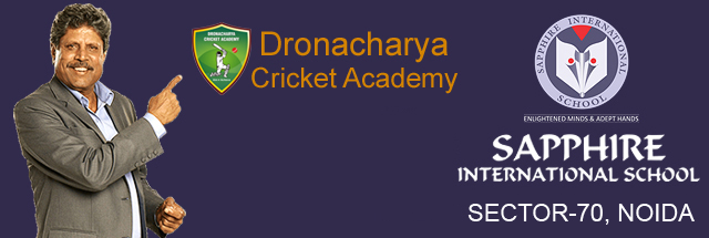 Dronacharya Cricket Academy inaugrated at Sapphire International School, Noida